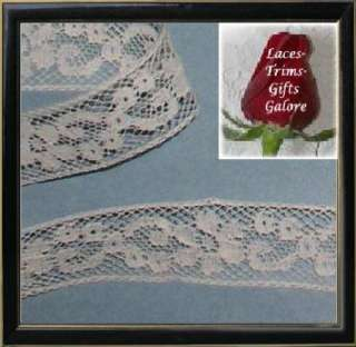 Yards 3/4 Vintage Ivory French Lace Trim Style R09