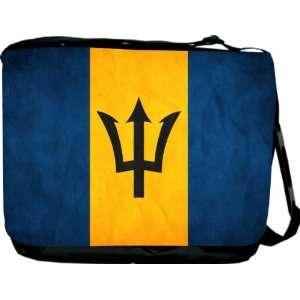 Rikki KnightTM Barbados Flag Messenger Bag   Book Bag   Unisex   Ideal
