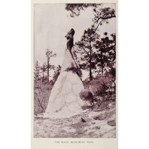 1893 Print Rock Formation Idiot Monument Park Colorado