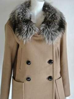 MIU MIU/Prada Virgin Wool Angora Coat Jacket FUR Collar IT42/US8 NWT