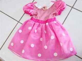 Disney Mini Mouse Costume Dress Pink Polka dot  Size 2/3T