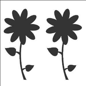 Flowers Wall Decals Stickers Removable and Repositionable Wall Art
