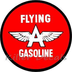 12 FLYING A GASOLINE DECAL GAS AND OIL GAS PUMP SIGN, WALL ART
