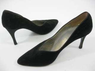 PETRA Classic Black Velvet Heels Shoes Sz 8.5