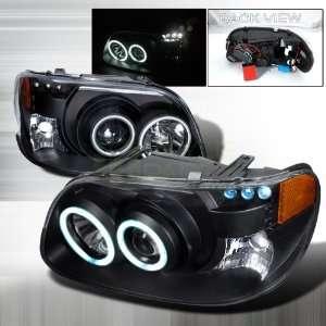 2001 Ford Explorer CCFL Halo Projector Headlights Black Automotive