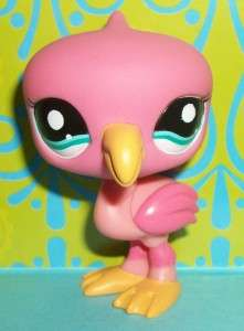 Littlest Pet Shop~#1740 HOT PINK FLAMINGO BIRD Teal Eye~H166 LPS