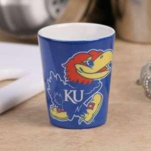Kansas Jayhawks Royal Blue Classic Ceramic Shot Glass
