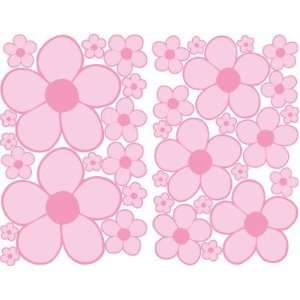 Pink Mini Daisy Flower Wall Stickers, Decals, Decor Baby