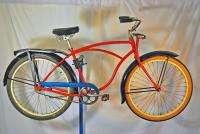Schwinn Pullman bicycle fat tire balloon bike Springer fork