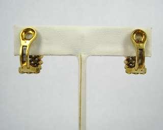 Vintage 3.0ct FG VS/VVS Diamond Huggie 18K Yellow Gold Earrings XOXO