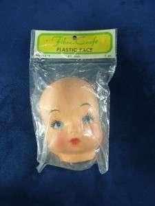 Fibre Craft Plastic Doll Face 4.5