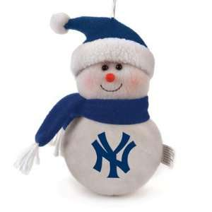 MLB 6 Plush Snowman   New York Yankees