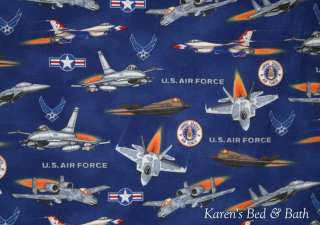 USA Military Air Force Fighter Aircraft Curtain Valance