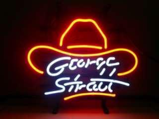 George Strait Beer Bar Pub Neon Store Light Sign M02
