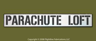 PARACHUTE LOFT Military Army Navy Marine Wood Door Sign
