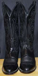 WOMENS Ladies Black TONY LAMA 1972 Cowgirl BOOTS size 8.5 Medium Very