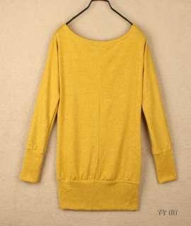 Korea Women Lovely Crochet Flower Boat Neck Long Sleeve T shirt Knit