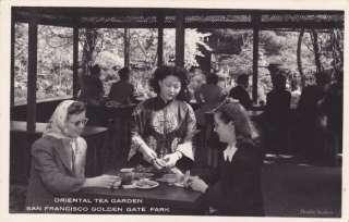 Oriental Tea Garden San Francisco CA RPPC Postcard