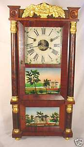 Rare Forestville Miniature Triple Decker Empire Clock