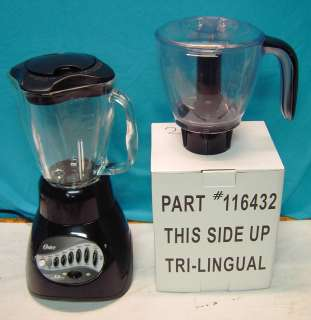 Oster Black 12 Speed Blender with Chopper Attachmnt