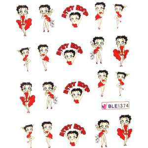 Miao Yun Betty Boop nail stickers water transfer decals