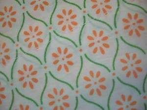 Hilfiger PIPER TWIN Cotton Sheet Set~Salmon/Orange Green Print Rtl $60