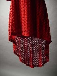 Crochet Lace Backless Deep V Open Back Retro Vtg y 60s 70s Long Tail