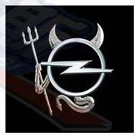 Opel Car Rear Logo Emblem 3D Devil DIY Decal Sticker