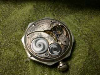 Antique Elgin Pocket Watch for Parts or Repair Nickel Case