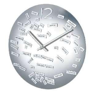 Unique modern silver religious wall clock[1122religious