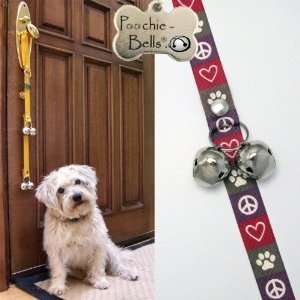 Dog Training Doorbells in Classic Peace Love Dog Design