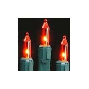Orman Set of 100 Amber/Orange Mini Christmas Lights