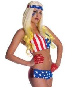 Lady Gaga AMERICAN FLAG Halloween Costume SIZE STANDARD