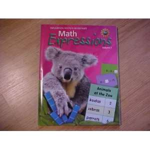 Book Softcover, Volume 1 Level 1 2009 (Math Expressions 2009   2012