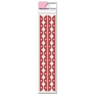 DOT SCALLP RED VELVET Papercraft, Scrapbooking (Source Book) Office