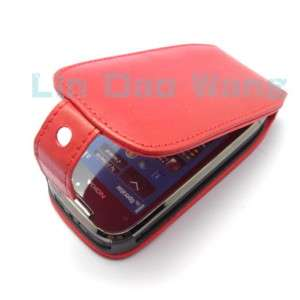 GENUINE LEATHER CASE COVER POUCH FILM FOR NOKIA C7,Red