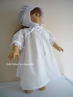 Doll Clothes fit American Girl Felicity Night Shift Set