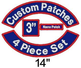 Piece Custom Embroidered Patch Set   Rockers Name MC Square   14