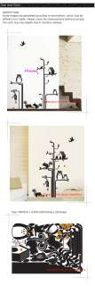 Owl Bird Removable Wall Decor Decal Sticker PS164