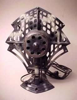 ART DECO ROBBINS & MYERS PEACOCK STYLE ELECTRIC FAN 1920S