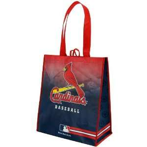 MLB St. Louis Cardinals Red Navy Blue Fade Reusable Tote