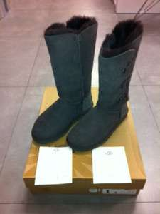 UGG Australia Bailey Button Triplet Chocolate Boot womens size 6 10
