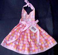 NWT ICKY BABY boutique pink polka dot halter dress 2T