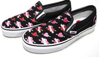 VANS SHOES SHOT2HEART 9 M 10.5 W CLASSIC SLIP ON PINK