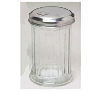25in High Glass Flip Cap Glass Sugar Dispenser W/metal Lid