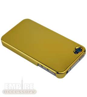 GOLD CHROME ULTRA SLIM THIN HARD CASE APPLE iPHONE 4G