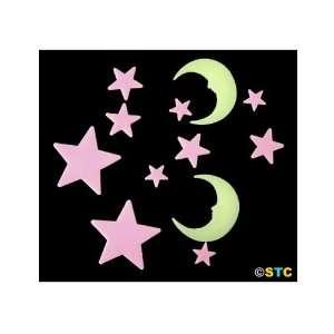 Glow In The Dark Moon & Stars (Style B) ~ Glow In The Dark