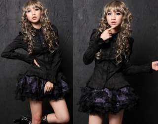 Sweet GOTHIC DOLLY PUNK Lolita CUTE LACE COLLAR SHIRT Blouse S L 81083