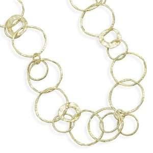 Cleversilvers 21 14 Karat Gold Plated Textured Link