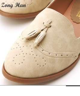 Comfort Oxford Low Heel Shoe in Grey, Brown, Blue or Light Beige